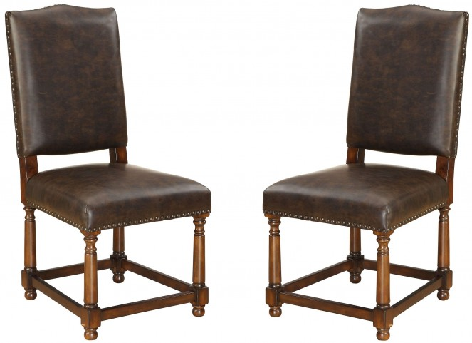 Bonded Leather Dining Chair Set of 2