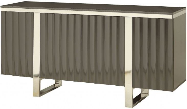 Burrows Charcoal Grey 4 Door Credenza