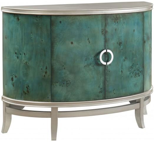 Opulent Emerald Isle 2 Door Demilume Cabinet