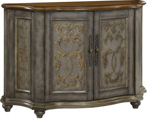 Braydon Textured Blue-Gray 2 Door Cabinet