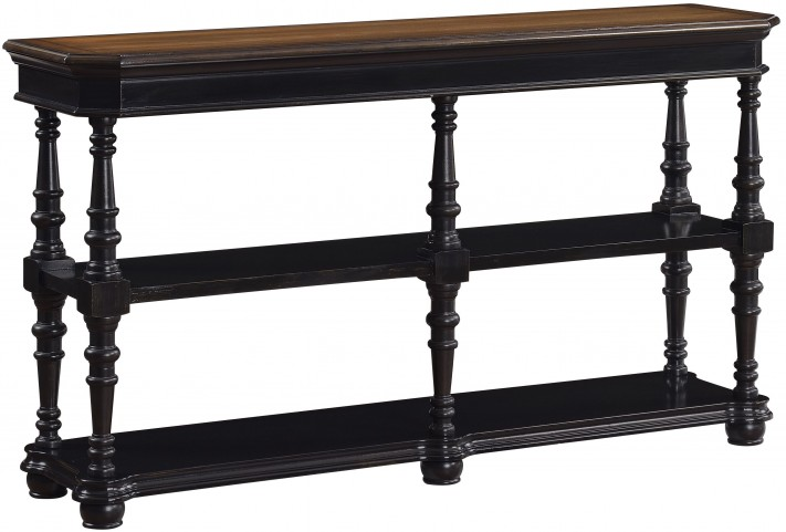 Barksdale Black/Sunset Brown 3 Tier Console