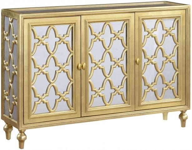 Garner Gold And Silver 3 Door Media Credenza