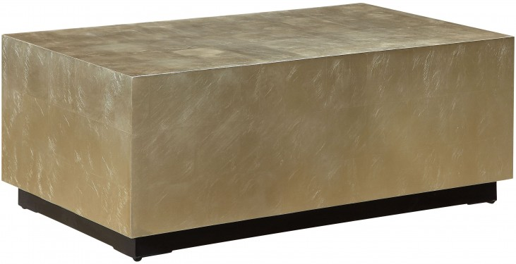 Cassiar Metallic Gold And Black Rectangular Cocktail Table