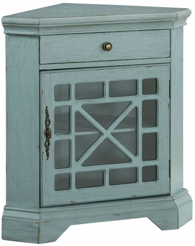 Bayberry Blue One Drawer Corner Cabinet