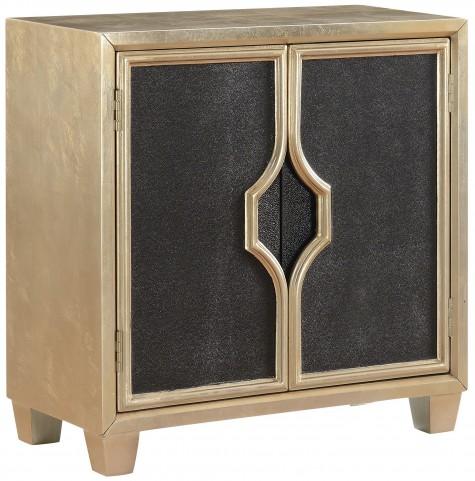 Cassiar Metallic Gold 2 Door Cabinet