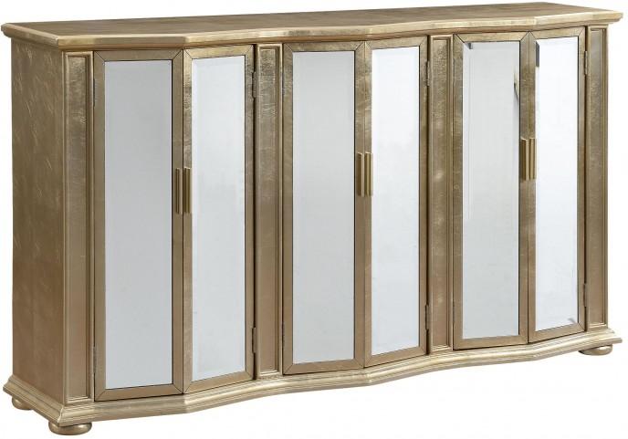 Cassiar Metallic Gold Six Door Credenza