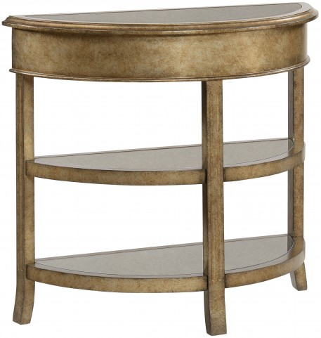 Grafton Metallic Gold Bevel Mirror Demilume Console
