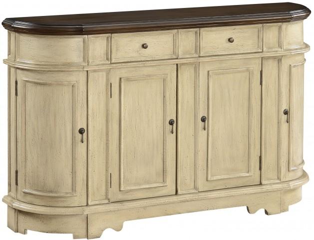 Brester Texture Ivory 2 Drawer 4 Door Credenza