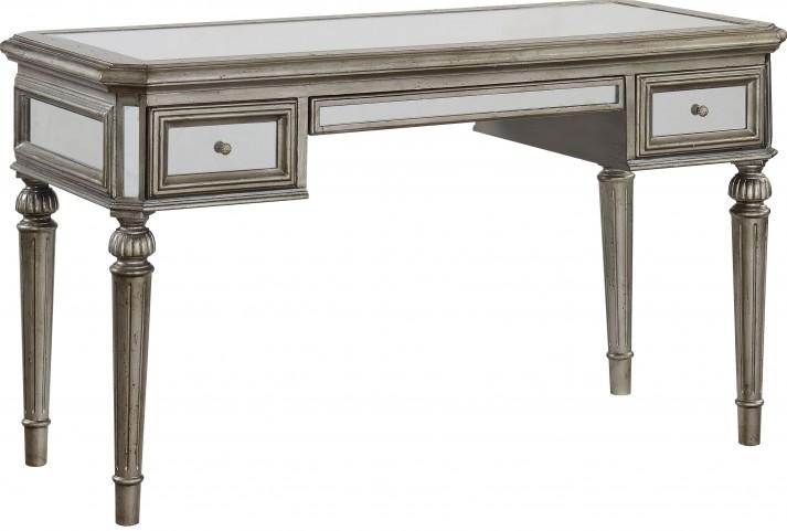 Textured Metallic 3 Drawer Desk