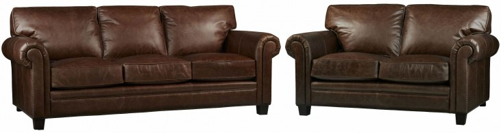 Hillsboro Chaps Havana Brown Living Room Set