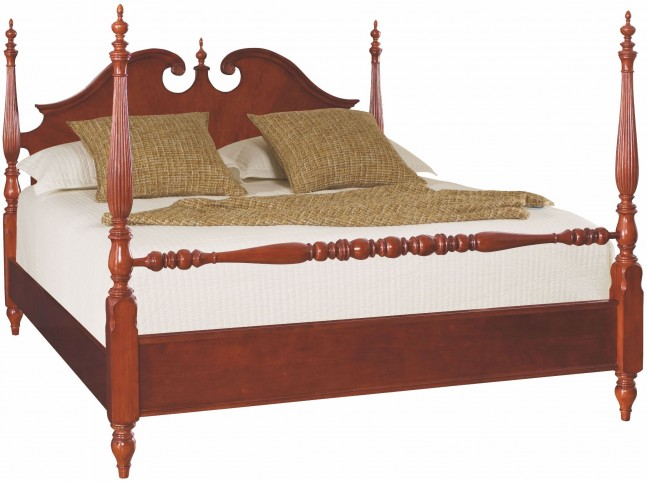 Cherry Grove Classic Antique Cherry King Low Poster Bed