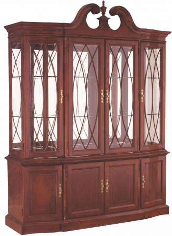Cherry Grove Classic Antique Cherry Breakfront China Cabinet