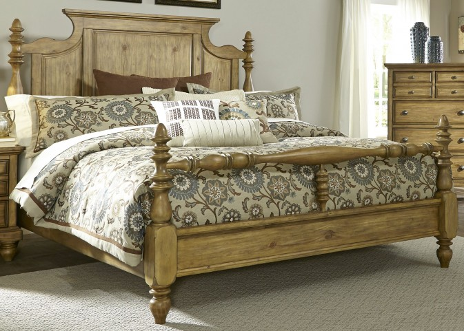 High Country Honey Spice King Poster Bed