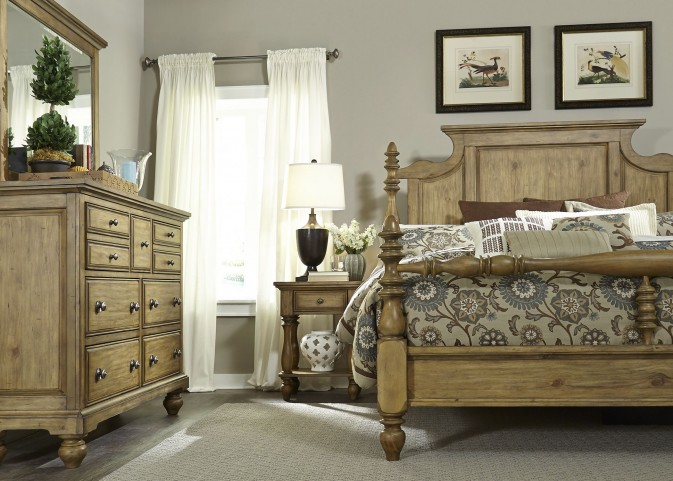 High Country Honey Spice Poster Bedroom Set