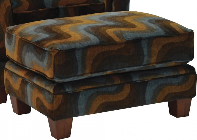 Hartwell Azure Entertainment Ottoman