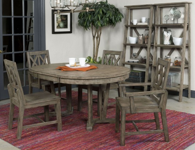 Foundry Extendable Round Dining Room Set