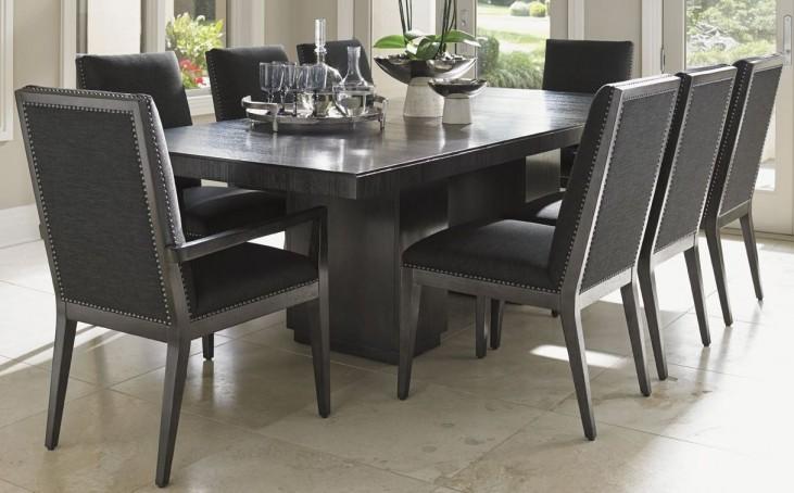 Carrera Modena Rectangular Extendable Double Pedestal Dining Room Set