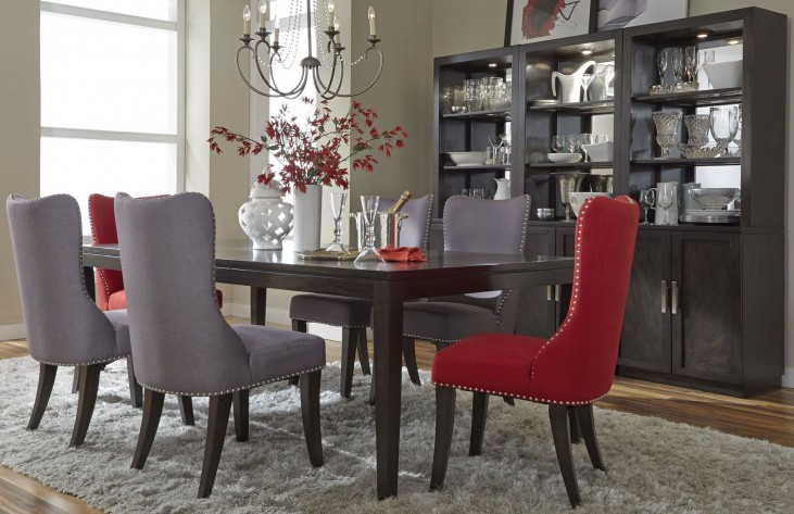 Platinum Leg Extendable Dining Room Set