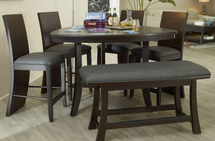 Novara Charcoal Massimo Counter Height Dining Room Set