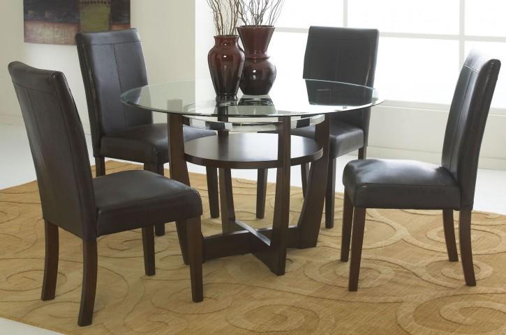 Apollo Rich Merlot Round Dining Room Set