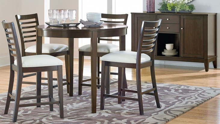 Noveau Dark Merlot Counter Height Round Dining Room Set