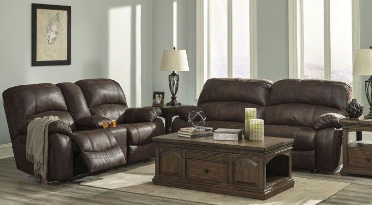 Zavier Truffle 2 Seat Reclining Living Room Set