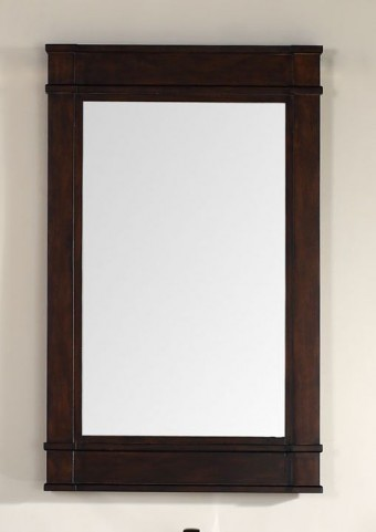 "Madison 26"" Mahogany Single Mirror"
