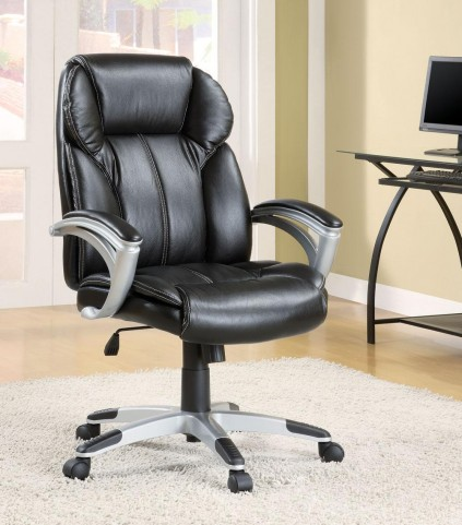 Black Vinyl Office Chair 800038