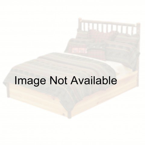 Hickory Full Platform Bed With Rustic Alder Rails