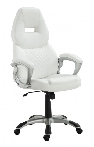 800150 White Bucket Seat Office Chair