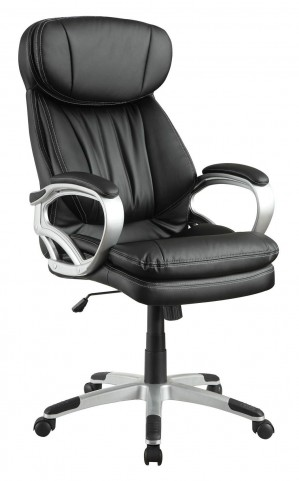 800165 Black Upholstered Office Chair