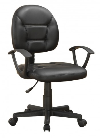800178 Grey Leather Swivel Chair
