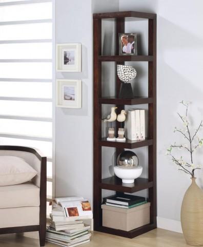 Cappuccino Corner Bookcase 800268