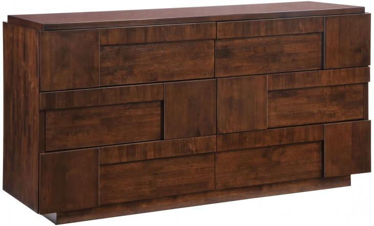 San Diego Walnut Double Dresser