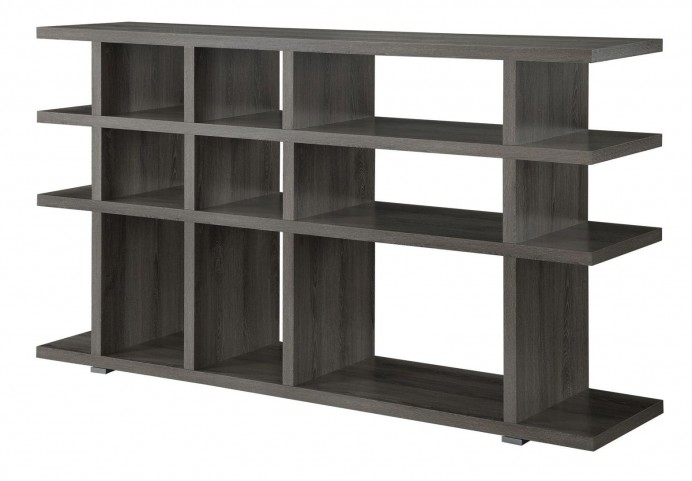 800359 Weathered Grey Open Shelves Bookshelf