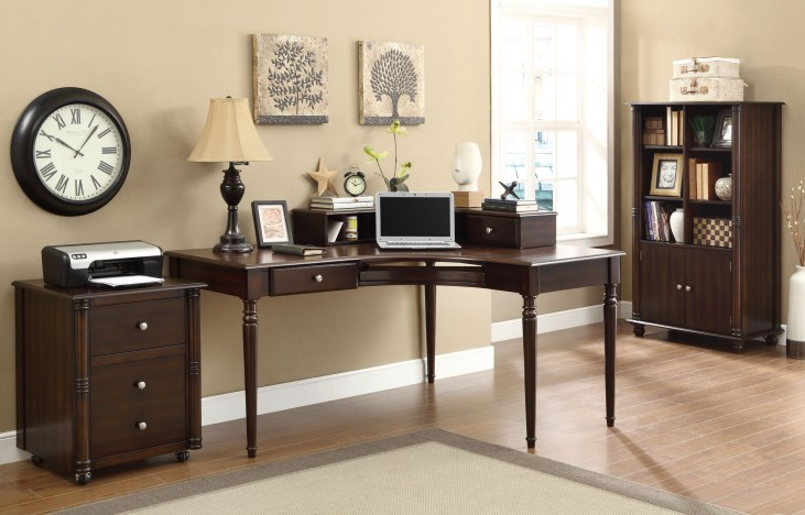 Jacqueline Cappuccino Home Office Set