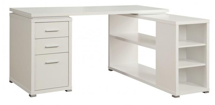 Yvette White L-Shape Desk