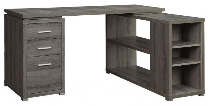 Yvette Weathered Grey L-Shape Desk
