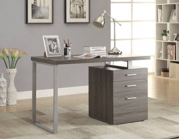 Hilliard Weathered Gray Writing Desk