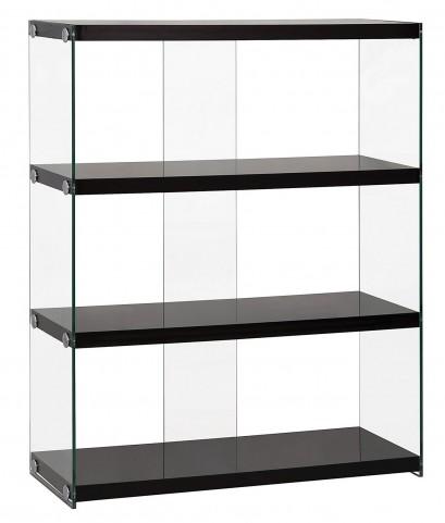 800535 Glossy Black Bookcase