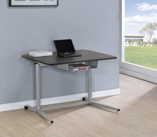800652 Blackk/Silver Adjustable Height Writing Desk