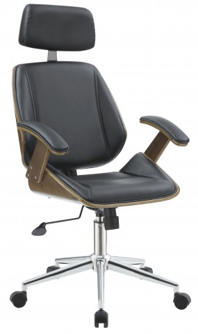 Black Leatherette Tall Office Chair