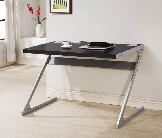 Black and Silver Bluetooth Desk