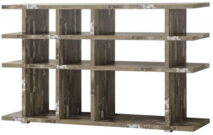 Silver Metal Cabin Bookcase