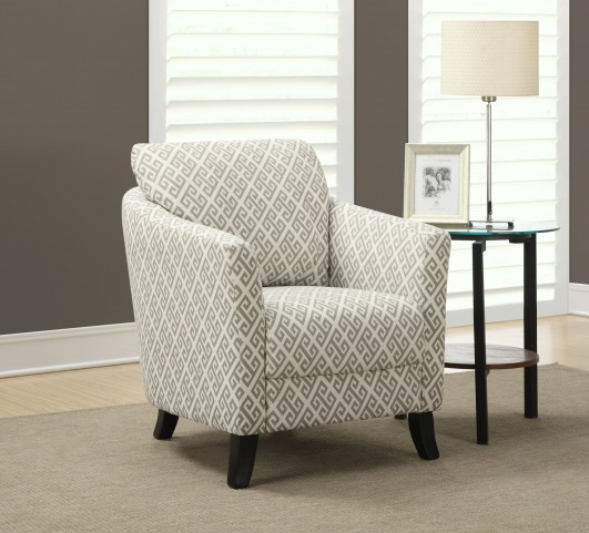 Sandstone/gray Maze Fabric Accent Chair