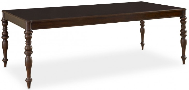 Open Seating Dark Chocolate Cherry Extendable Benjamin Dining Table