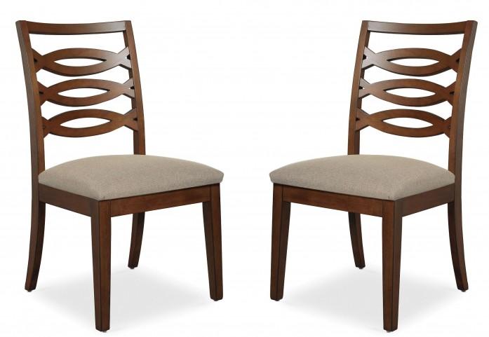 Claire de Lune Wood Back Side Chair Set of 2