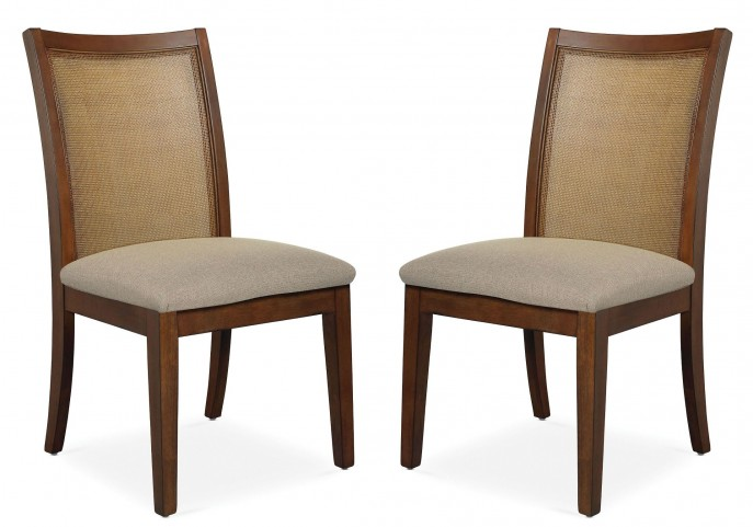 Claire de Lune Cane Side Chair Set of 2