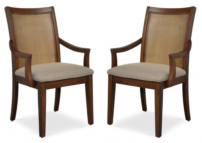 Claire de Lune Cane Arm Chair Set of 2