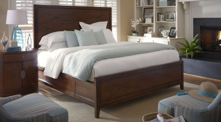 Claire de Lune Toasted Nutmeg Panel Bedroom Set